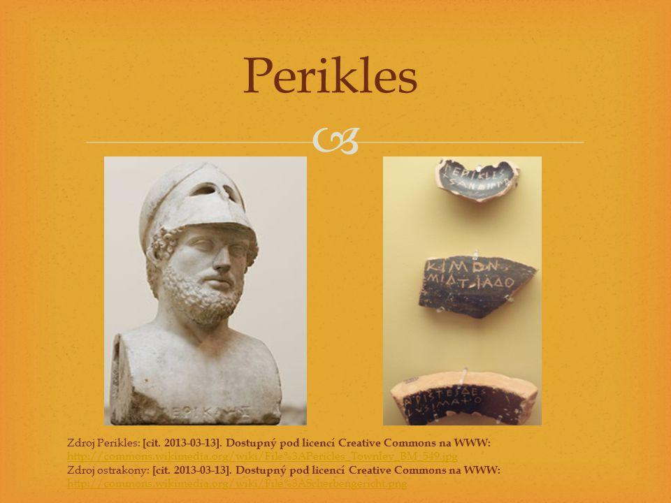 Perikles Zdroj Perikles: [cit. 2013-03-13]. Dostupný pod licencí Creative Commons na WWW: